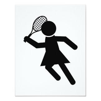 Female Tennis Player - Tennis Symbol Invite