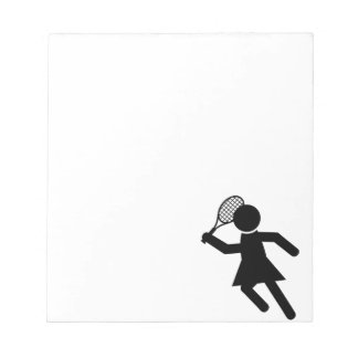 Female Tennis Player - Tennis Symbol Notepad