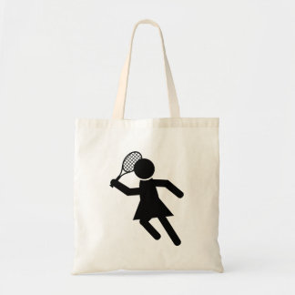 Female Tennis Player - Tennis Symbol Tote Bag