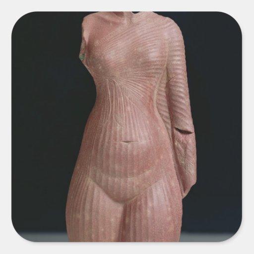 Female torso, probably Queen Nefertiti Square Stickers
