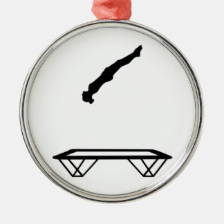 Female trampolinist metal ornament