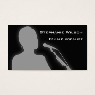 Female Vocalist Business Cards