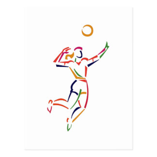 Female Volleyball Player Postcard