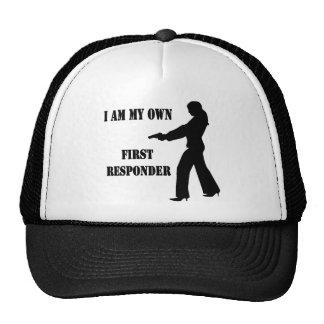 Female w/ Gun I Am My Own First Responder Trucker Hat