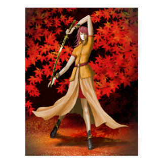 Female Warrior with Sword Postcard
