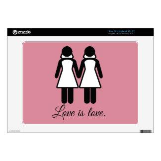 FEMALE WEDDING LOVE - png Acer Chromebook Skins