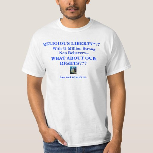Female white t-shirt religious rights questioned