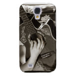 Female with acoustic  Guitar hand and hip view Galaxy S4 Case