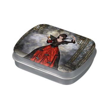 Halloween Themed Female Wizard Candy Tin