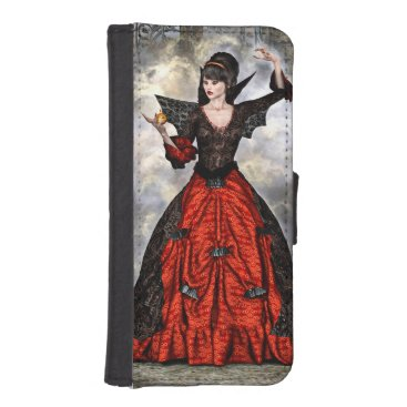 Halloween Themed Female Wizard iPhone SE/5/5s Wallet Case