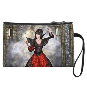 Halloween Themed Female Wizard Wristlet Wallet