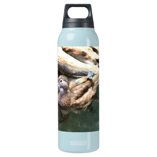 Female Wood Duck Insulated Water Bottle