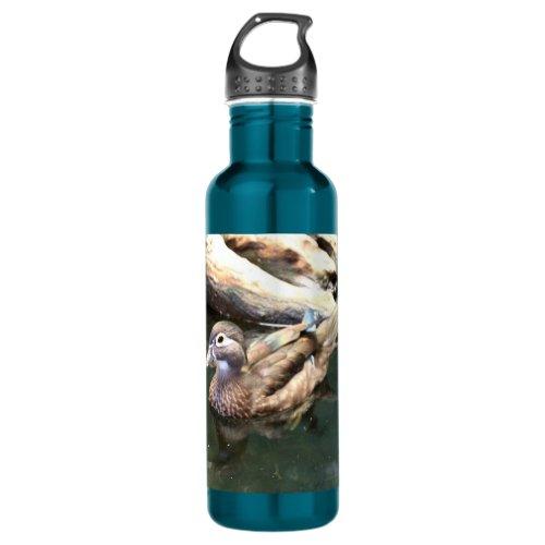 Female Wood Duck Stainless Steel Water Bottle