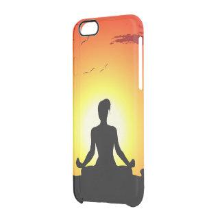 Female Yoga Meditating Sunshine Clear iPhone 6/6S Case