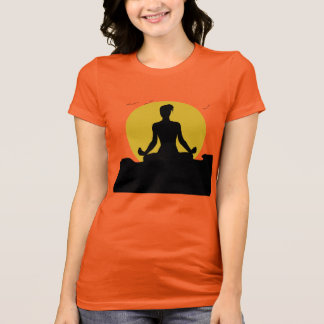 Female  Yoga Meditating Sunshine T-Shirt