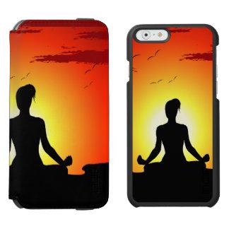 Female Yoga  Meditation Sunshine iPhone 6/6s Wallet Case