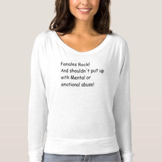 Females rock No abuse Shirts