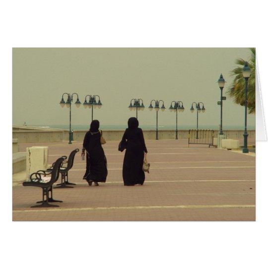 Females shopping in Kuwait Card