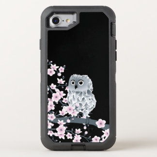 Femenino animal lindo del búho de las flores de funda OtterBox defender para iPhone 7