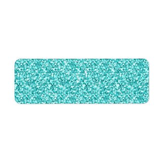 Femenino, brillo azul de la aguamarina de la etiqueta de remitente