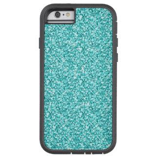 Femenino, brillo azul de la aguamarina de la funda de iPhone 6 tough xtreme