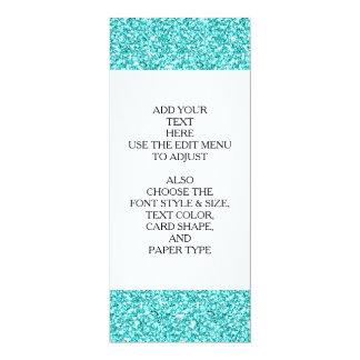"""Femenino, brillo azul de la aguamarina de la invitación 4"""" x 9.25"""""""