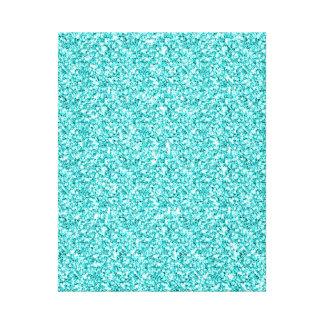 Femenino, brillo azul de la aguamarina de la impresiones en lona estiradas