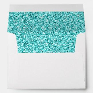 Femenino, brillo azul de la aguamarina de la sobre