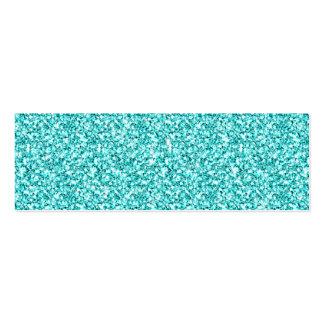 Femenino, brillo azul de la aguamarina de la tarjetas de visita mini