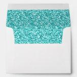 Femenino, brillo azul de la aguamarina impreso