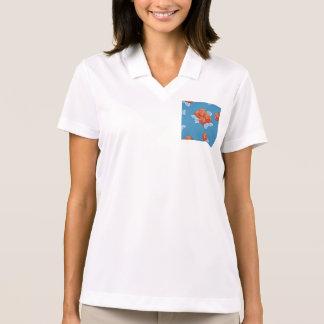Femenino, de moda, elegante, país, azul, rojo, camisetas polos