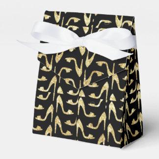 femenino, de moda, oro, negro, tacones altos, caja para regalos