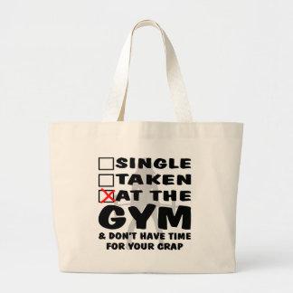 Femenino escoja tomado en el gimnasio y no tenga t bolsa tela grande