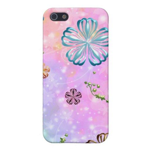 Femenino femenino del flower power iPhone 5 carcasa
