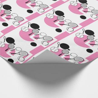 Femenino negro blanco rosado del tenis papel de regalo