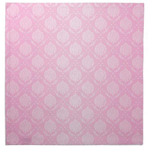 Femenino palidezca - el modelo rosado y blanco del servilletas de papel