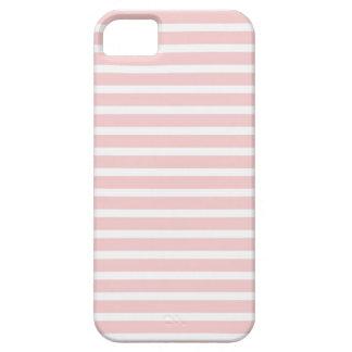 Femenino palidezca - las rayas rosadas y blancas iPhone 5 carcasa