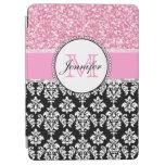 Femenino, rosa, brilla el damasco negro cover de iPad air