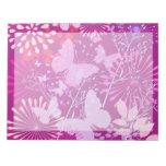 Femenino rosado púrpura vibrante del jardín de la  blocs de notas