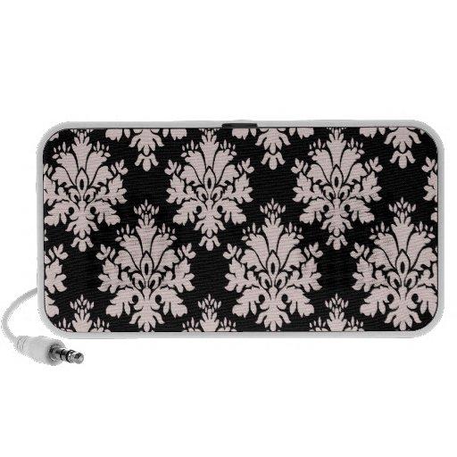 Femenino se ruboriza el modelo negro rosado del da iPod altavoz