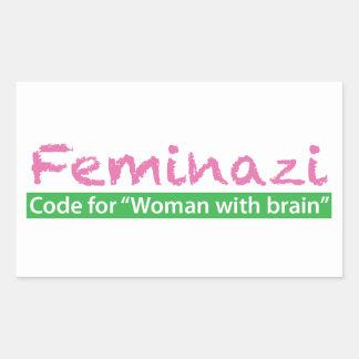 Feminazi Rectangular Sticker