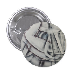 Feminina Black and White Abstract 1 Inch Round Button