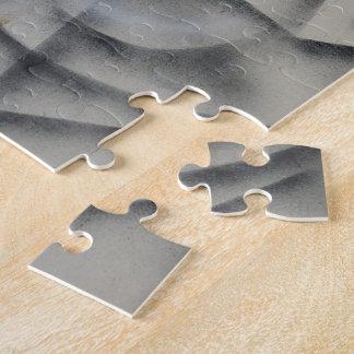 Feminina Black and White Abstract Jigsaw Puzzle