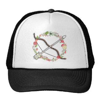 Feminine Archery Bow & Arrow Trucker Hat