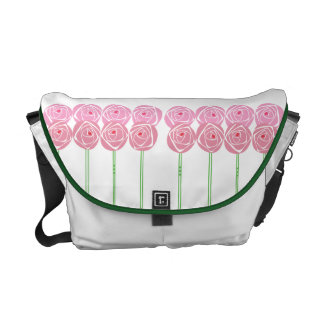 Feminine Art Nouveau Roses Pattern Messenger Bag