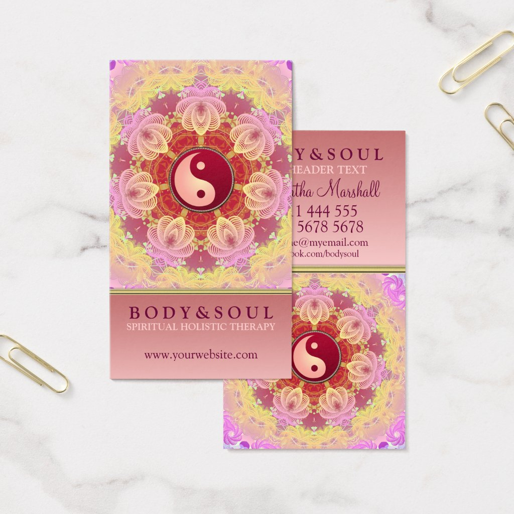 Feminine Beauty YinYang Holistic Business Card