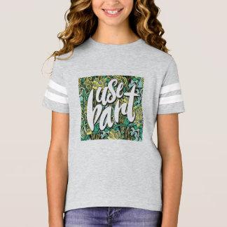 Feminine childish t-shirt usebart, jaspeado Ash
