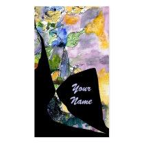 business cards, artsy, artful, edgy, grunge, black, dark, weird, different, customizable, unique, original, art, ginette, texture, eye, catching, conversation piece, business, ink splot, purple, lavender, feminine, modern, Business Card with custom graphic design