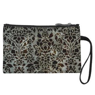 Feminine Damask Wristlet Wallet