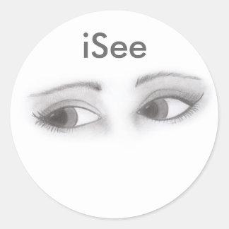 Feminine Eyes Classic Round Sticker